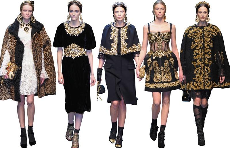 DOLCE GABBAN - Dolce & Gabbana colección otoño/invierno 2012