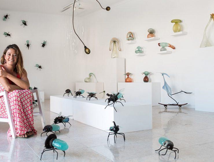 hotglass studio 27 740x560 - La artista del vidrio Raquel Pou